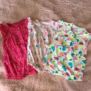 Carter's rompers - set of 3